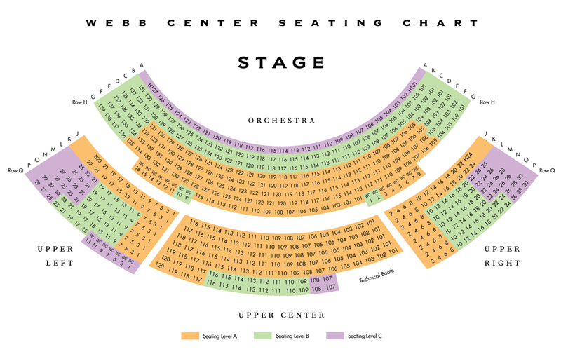 Del E. Webb Center for the Performing Arts Seating Chart