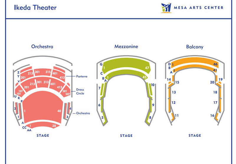 Ikeda Theater Seating Chart