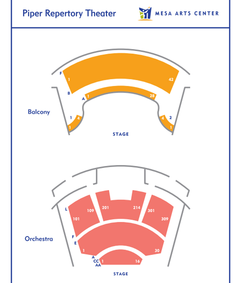 Piper Repertory Theatre Seating Chart