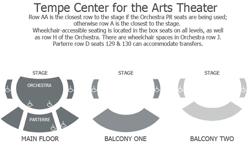 Tempe Center for the Arts Seating Chart