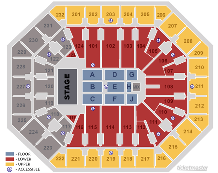 Talking stick resort arena seating chart theatre in phoenix